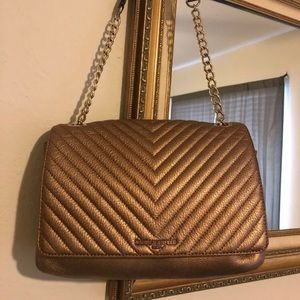 Karl Lagerfeld Quilted Leather Bag Link Strap